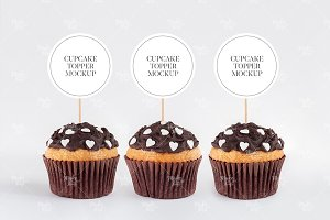 Cupcake toppers mockup #9133