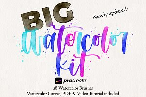 28 Watercolor Procreate Brushes
