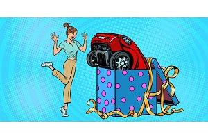 woman surprise car gift