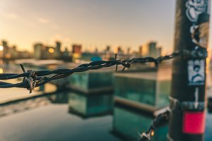 Barbed Wire and Sunsets