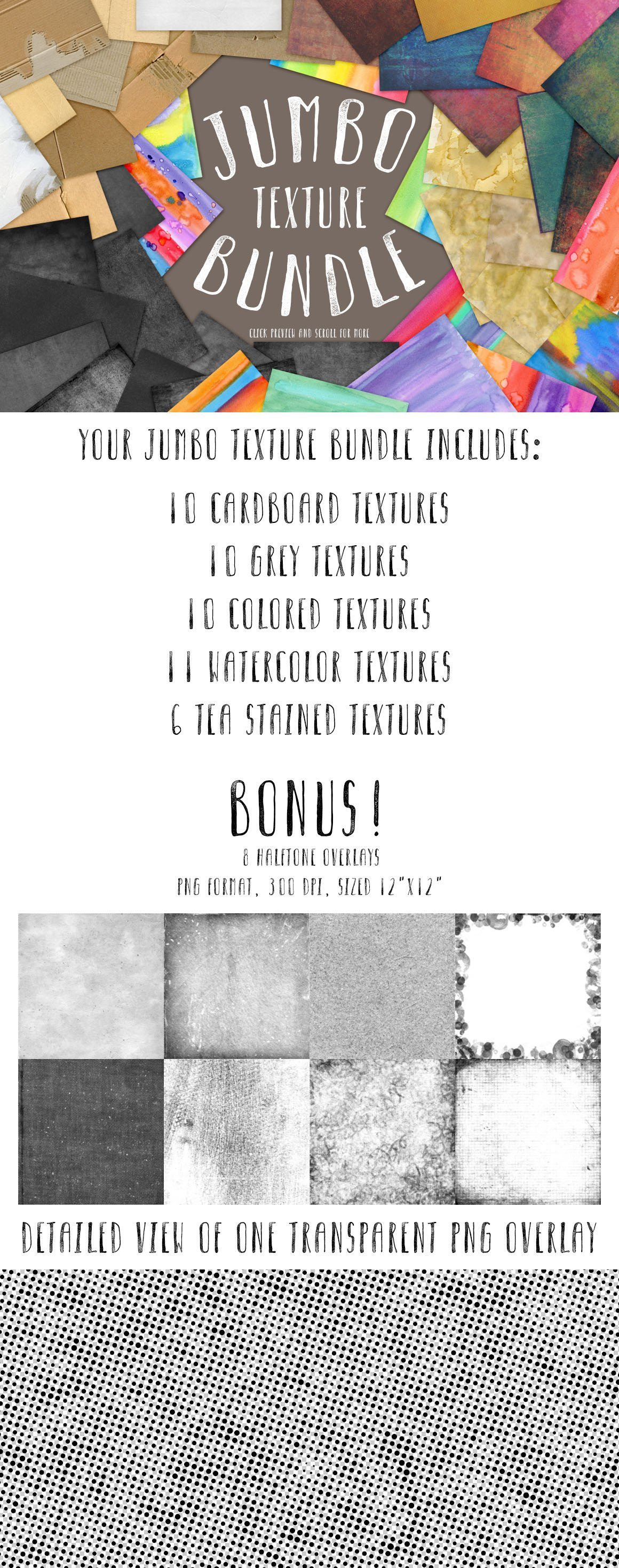 Jumbo Texture Bundle Textures Creative Market