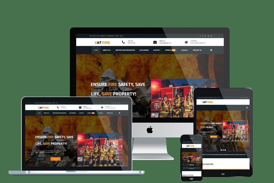 AT Fire Firefighter Website template