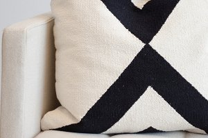 Black & White Throw Pillow Image