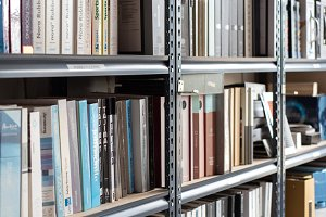 Books on Library Shelves|Stock Photo
