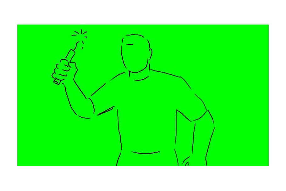 Animation Man Throwing Dynamite TNT