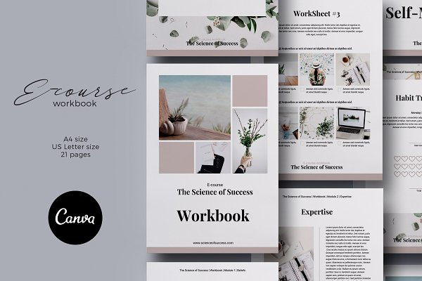 Canva E-course Workbook Template