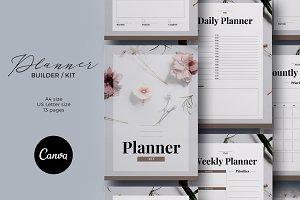 Planner Kit Canva Template