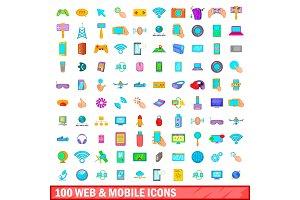 100 web and mobile icons set