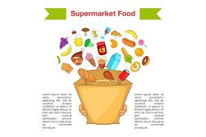 Food supermarket bag concept