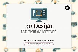 30 Design development in flat design