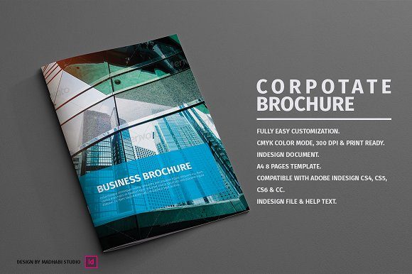 Corporate Brochure 8 Pages Brochure Templates Creative Market