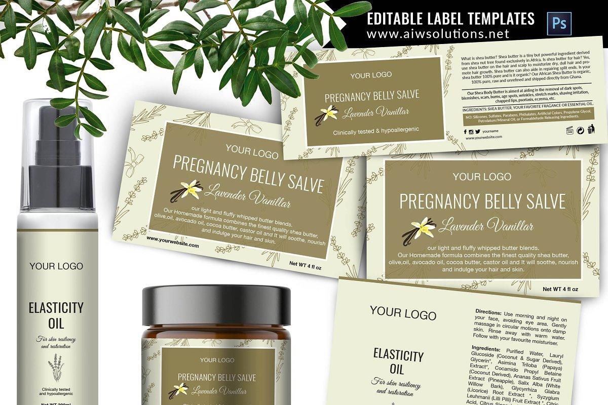 lavender & Vanilla label template