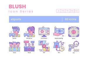 60 Gaming & Esports Icons | Blush