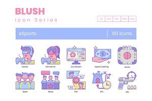 60 Gaming & Esports Icons | Blush