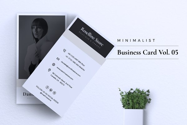 Templates: Rahardi Studio - Minimalist Business Card Vol. 05