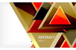 Triangles repetiton geometric