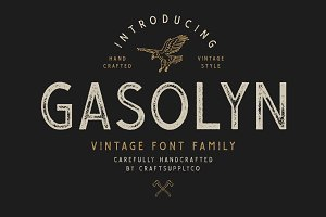 Gasolyn Font Family + Extras