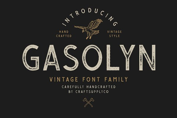 Fonts: Craft Supply Co. - Gasolyn Font Family + Extras