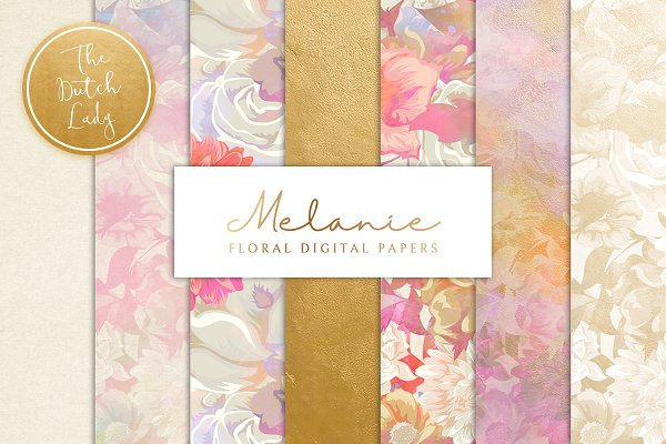 Floral Backgrounds & Paper - Melanie