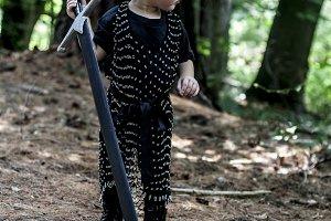 Baby Viking Medieval Knight