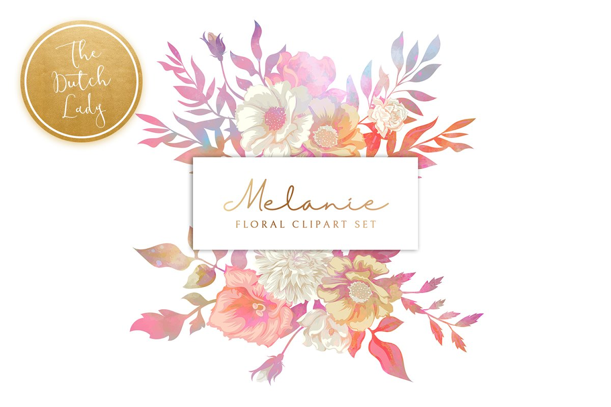 Floral & Botanical Clipart - Melanie in Illustrations - product preview 8