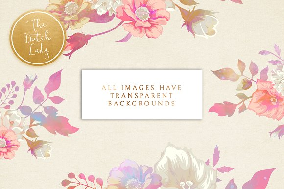 Floral & Botanical Clipart - Melanie in Illustrations - product preview 1
