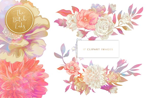 Floral & Botanical Clipart - Melanie in Illustrations - product preview 2