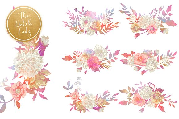 Floral & Botanical Clipart - Melanie in Illustrations - product preview 4