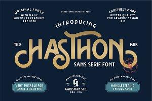 Hasthon - Vintage Font