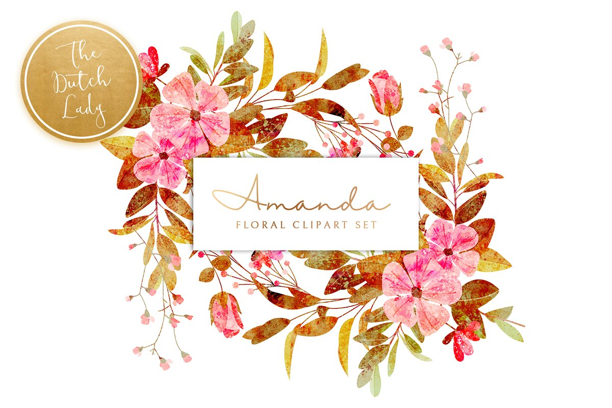 Floral & Botanical Clipart - Amanda in Illustrations - product preview 8