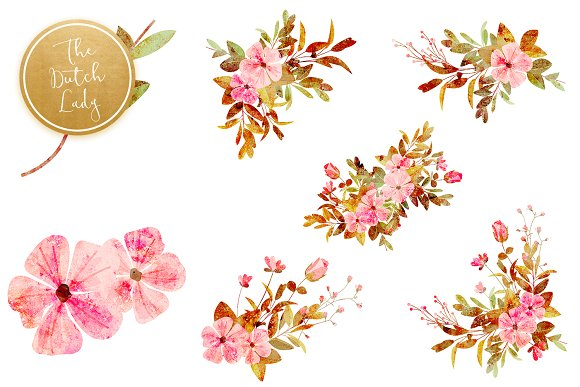 Floral & Botanical Clipart - Amanda in Illustrations - product preview 5