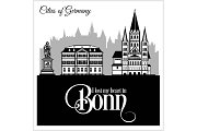 Bonn - City in Germany. Detailed
