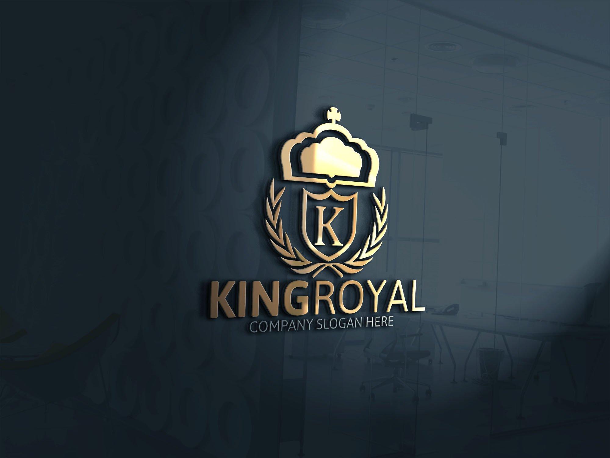 King royal logo logo templates creative market for Hotel name design