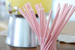 Valentine Party Straws | Stock Photo