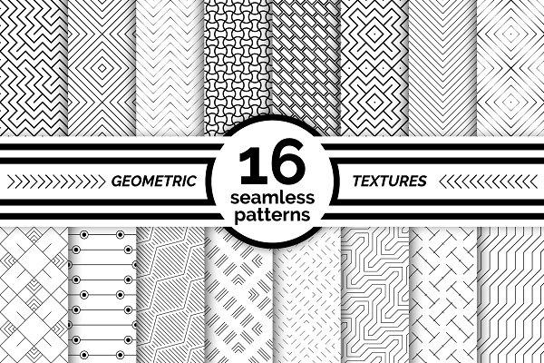 Graphics: pattern shop - Geometric seamless patterns. Big set