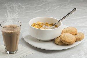 Breakfast with Hot Tea & Biscuits