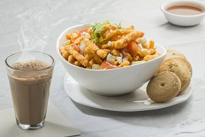 Spicy Snacks with Hot Tea