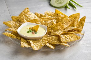 nachos chips with cheese