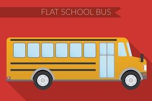 Flat School bus
