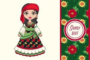 The girl in Gypsy dress.