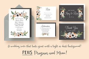 Modern Floral Wedding Suite