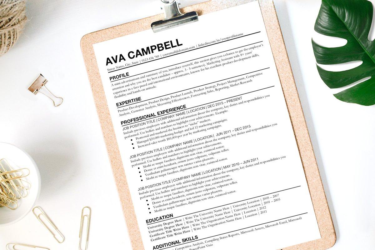 Resume Template for Google Docs