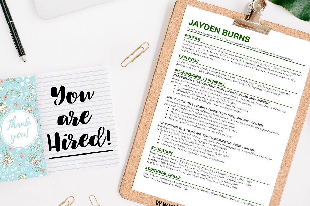 Resume Template Google Docs