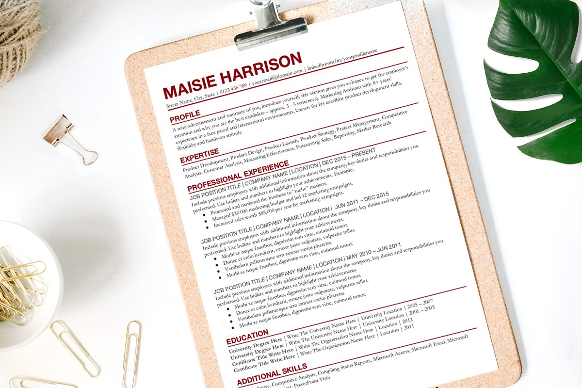 Simple Resume Template Google Docs ~ Resume Templates ...