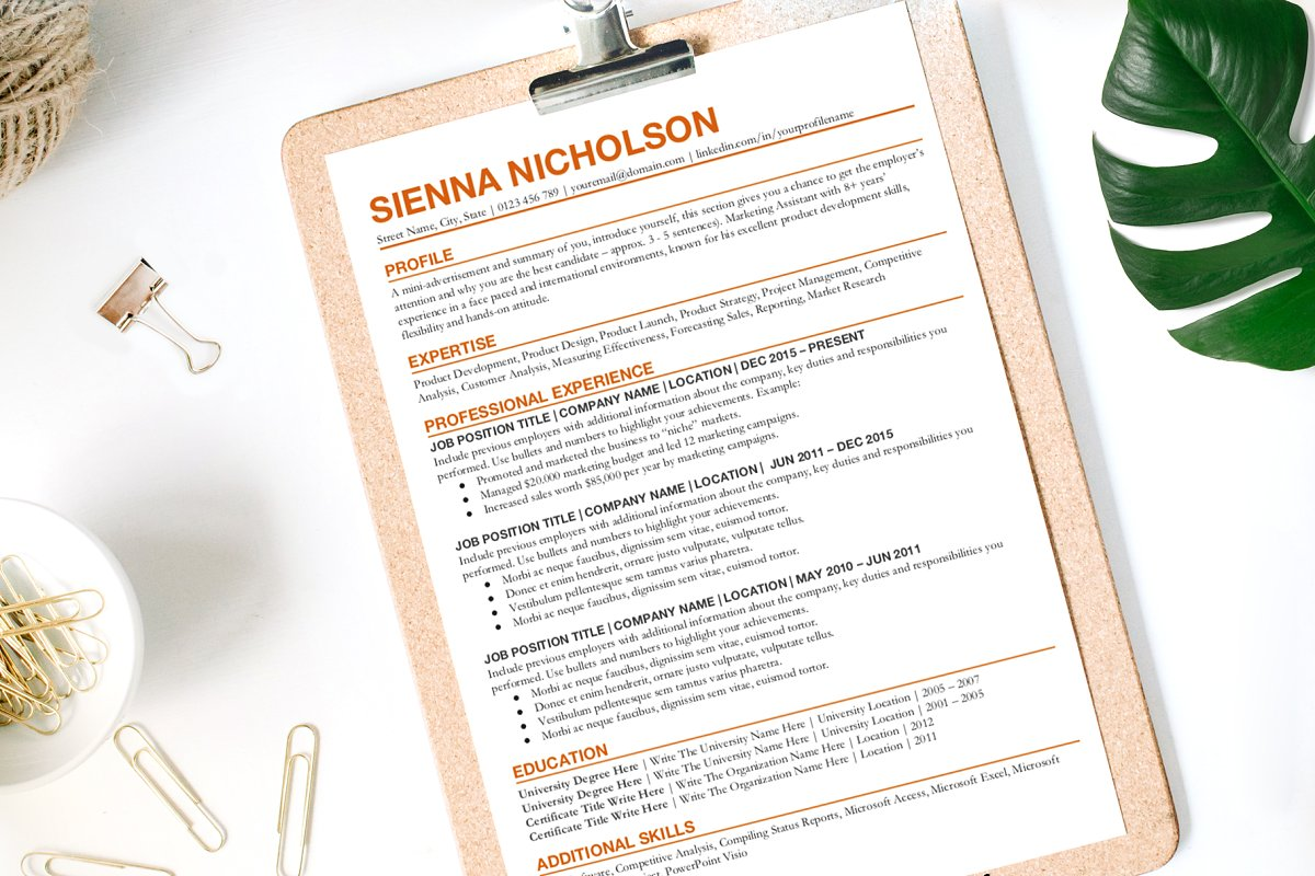 Simple CV/Resume Template