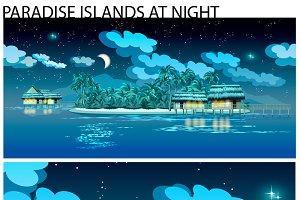 Paradise Islands at Night