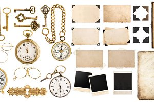 Collection of vintage objects JPG