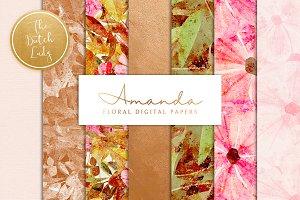 Floral Backgrounds & Paper - Amanda