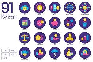 Fintech - Finance Technology Icons