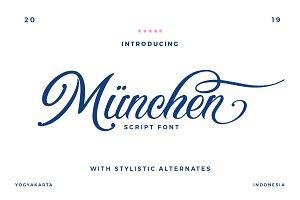 Munchen Script Font